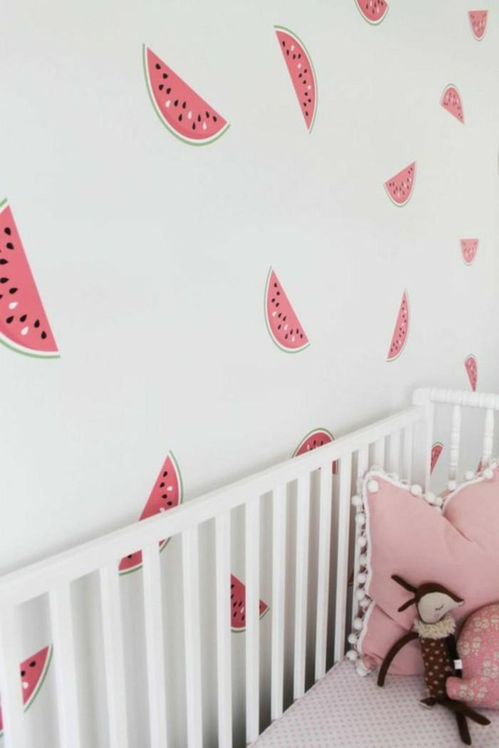Kinderzimmer Tapeten Prinzessin : Kinderzimmer-Tapeten-Ideen-mit-Wassermelon