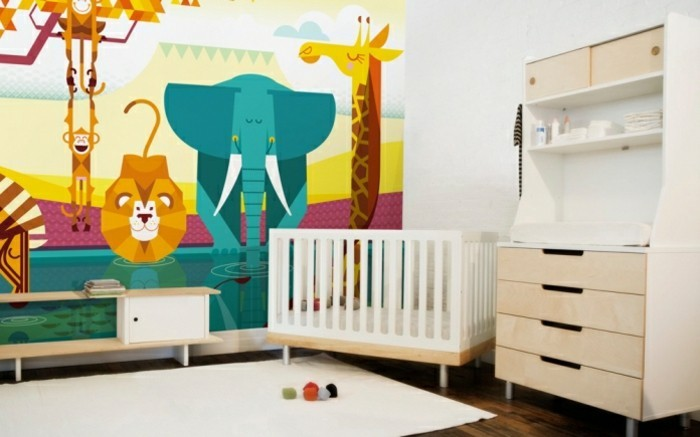 tapeten f r kinderzimmer ideen von den kleinen inspiriert. Black Bedroom Furniture Sets. Home Design Ideas