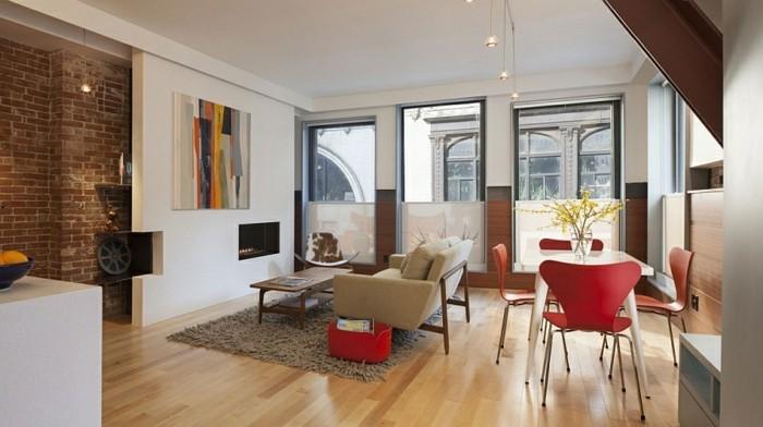 Kleine-Räume-einrichten-Wohnzimmer-und-Esszimmer