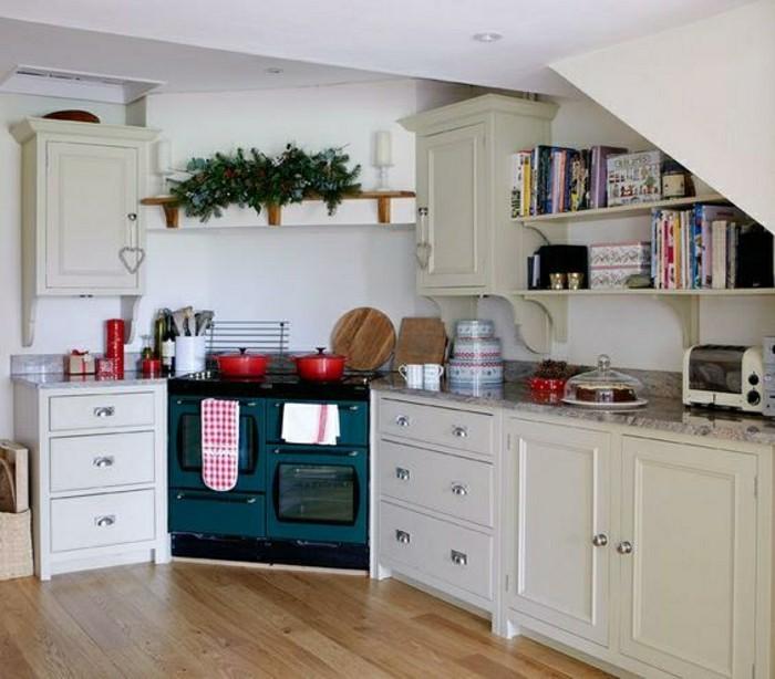 Küche Blau Weiß