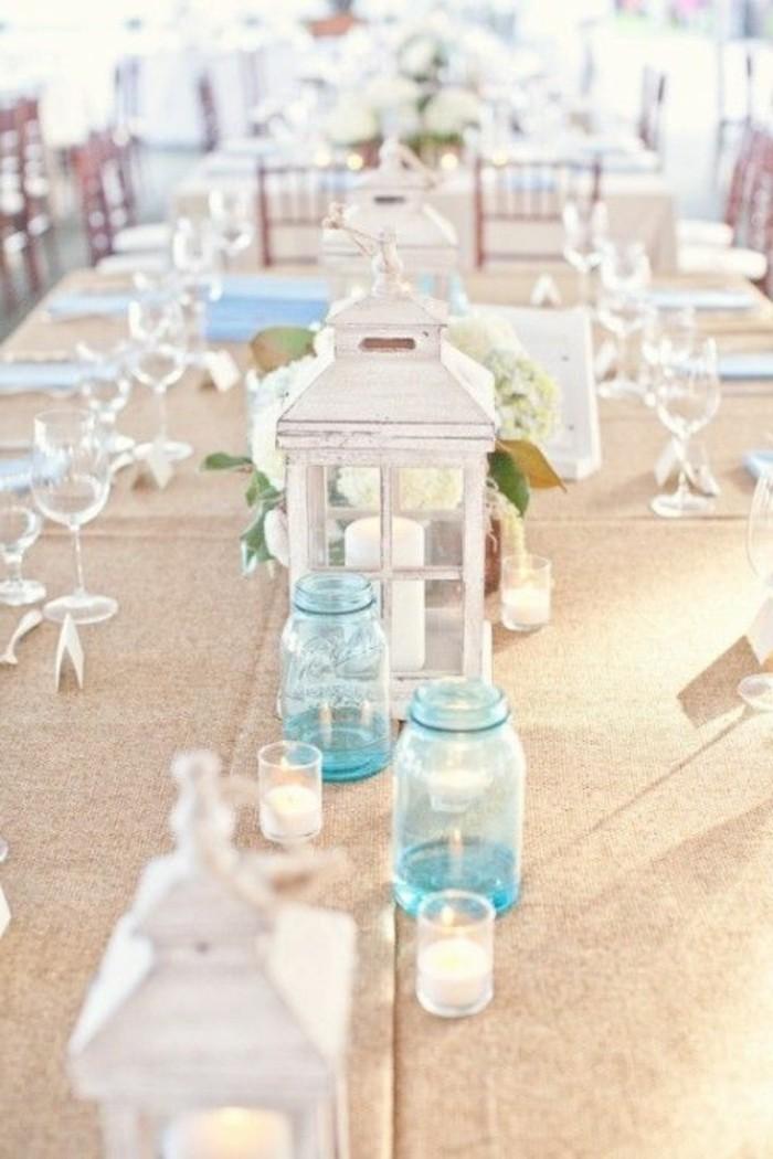 tischdeko für wohnzimmer:sehr elegante maritime Tischdeko für Party