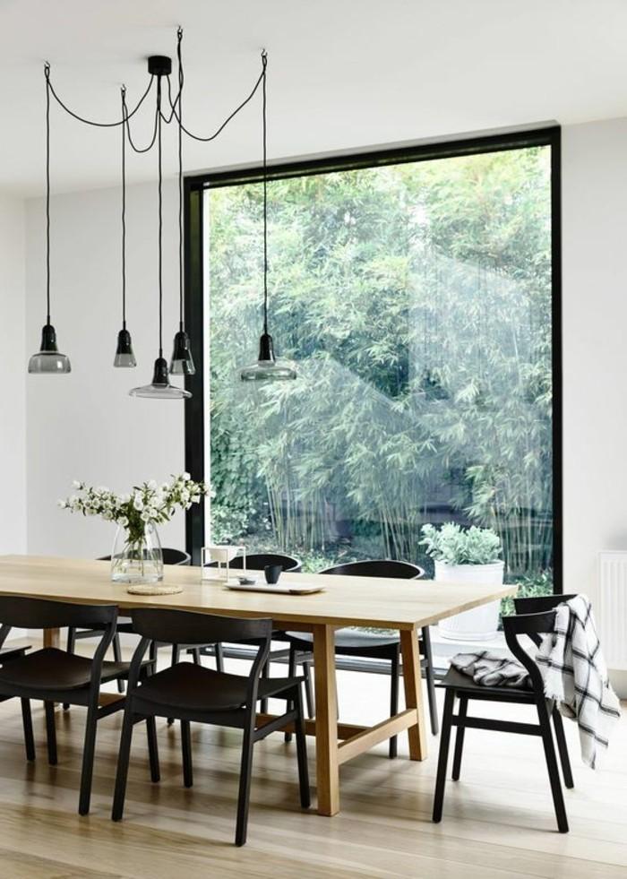 Moderne Esszimmer Mit Großem Fenster