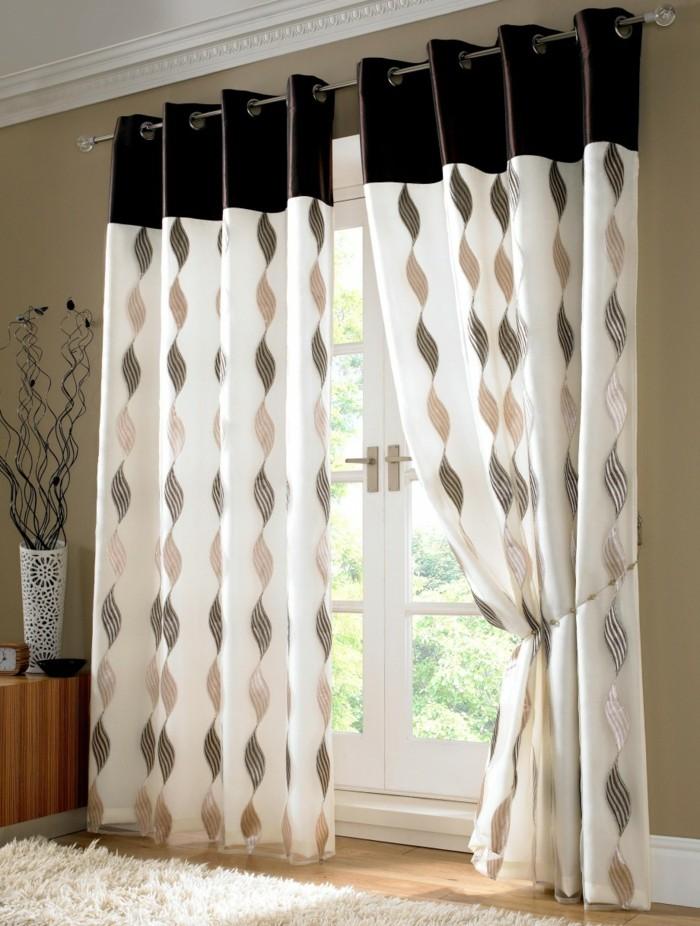 Moderne-Gardinen-mit-Spirale-Muster