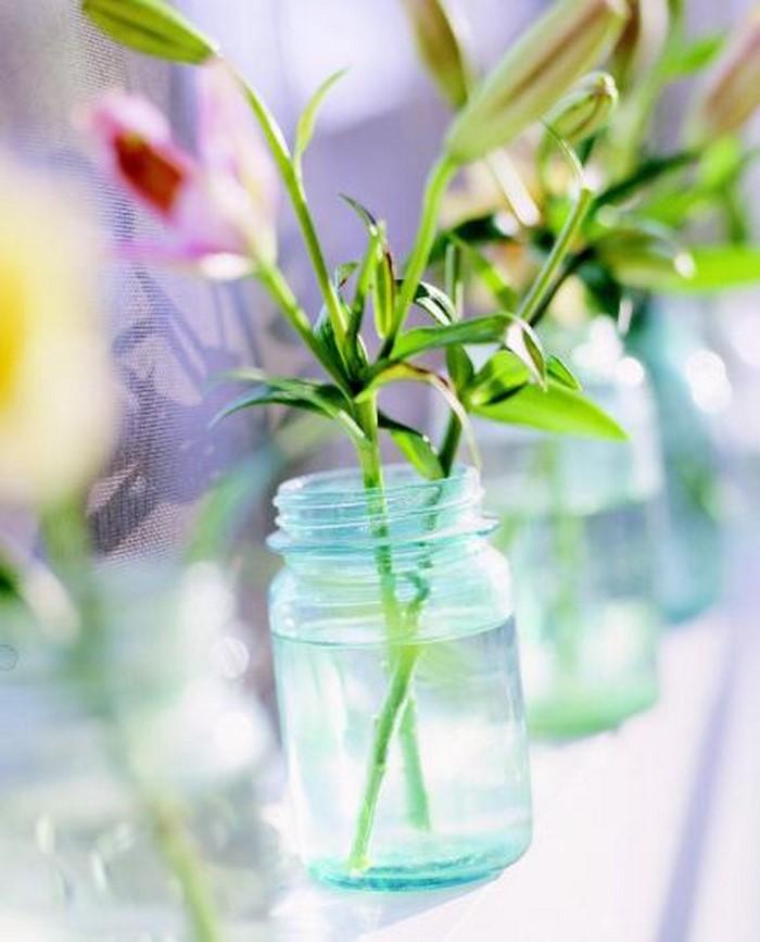 Retro Deko - ein kleines Bierchen mit Blumen