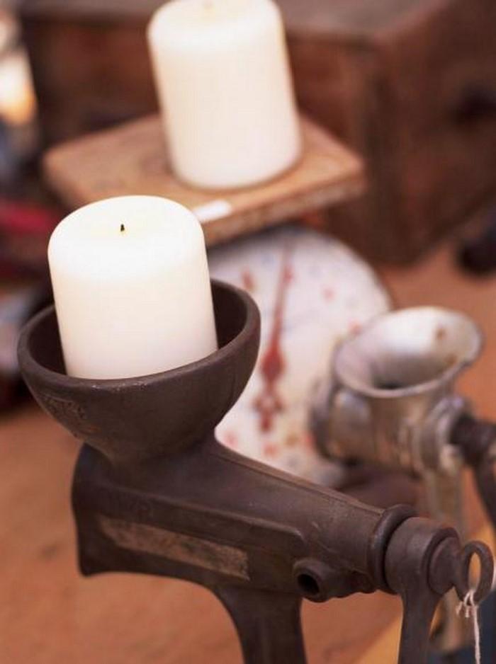 Retro Deko - eine dekorative Kerze