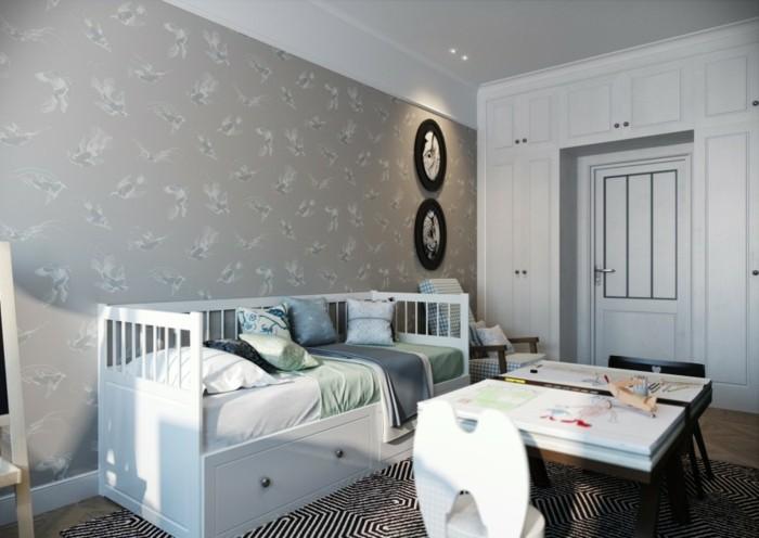 Schlafzimmer-Inspiration-Tapeten-mit-Vögeln