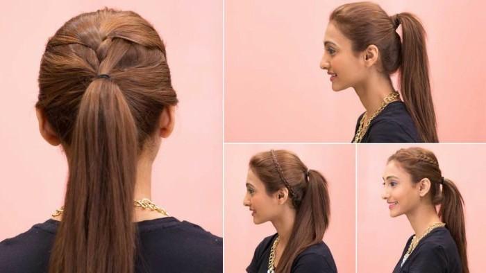 Schnelle-Frisuren-für-lange-Haare-wie-ein-Band