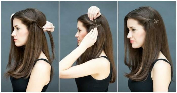 Schnelle-Frisuren-mit-zwei-Haarklammern