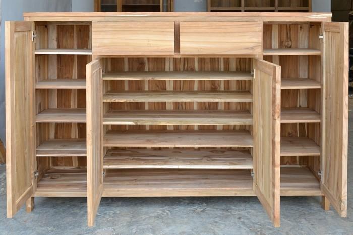 Schuhschrank-Holz-mit-vier-Türen