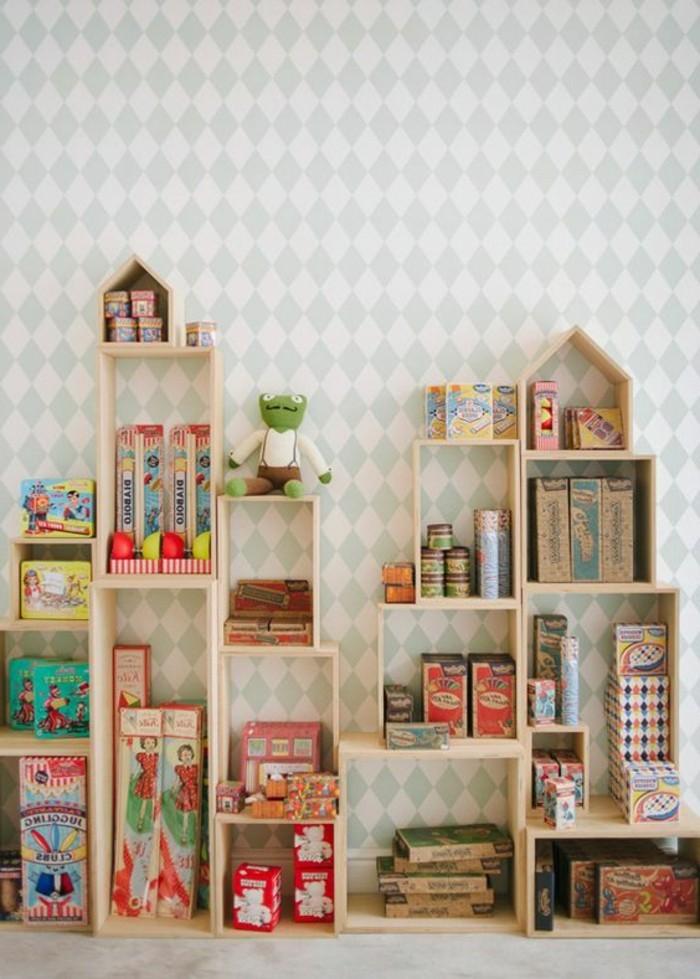 Tapete-Kinderzimmer-mit-vielen-Romben