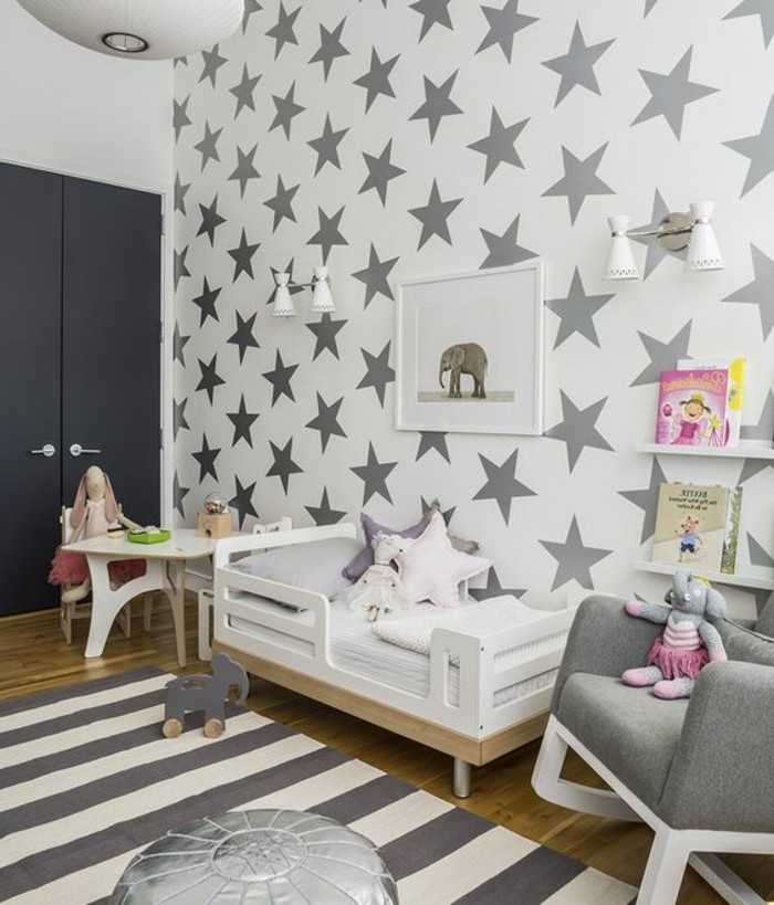 tapeten mit muster kinderzimmer. Black Bedroom Furniture Sets. Home Design Ideas