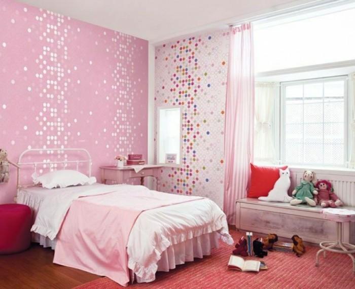 Tapeten-für-Kinderzimmer-in-rosa-Farbe