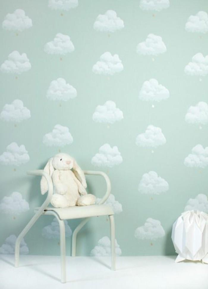 Tapeten-für-Kinderzimmer-mit-Wolken