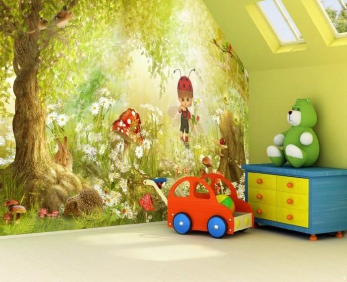 Tapeten-für-Kinderzimmer-mit-zauberhaftem-Wald