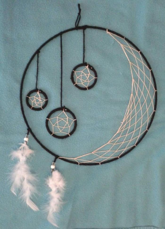 Traumfänger-selber-basteln-wie-Mond-und-Sterne