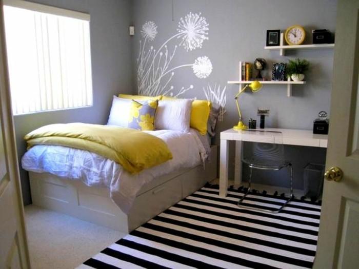 Wanddeko-Schlafzimmer-mit-Löwenzahn-Bilder