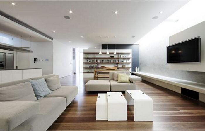 Wohnzimmer-gestalten-Holzparkett