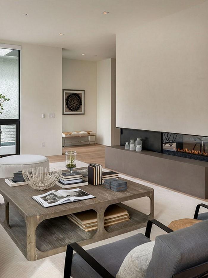 Wohnzimmer-gestalten-Holztisch-graue-Couch