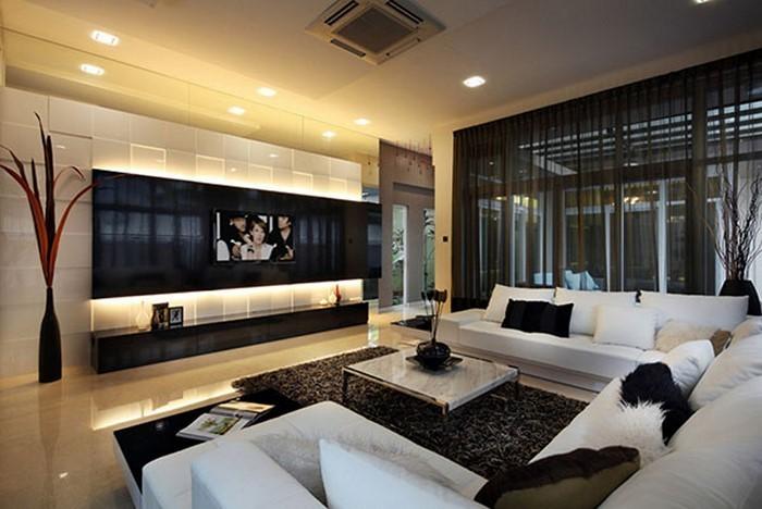 Wohnzimmer-gestalten-Modernes-klassisches-Interieur