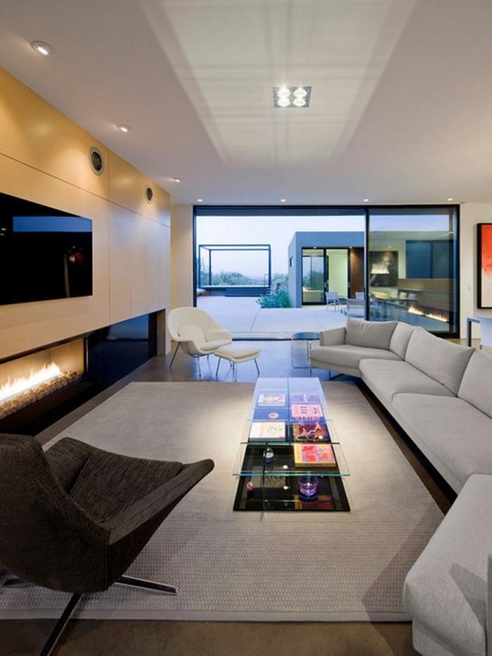 Wohnzimmer Gestalten Ein Weisser Interior Und Grosser
