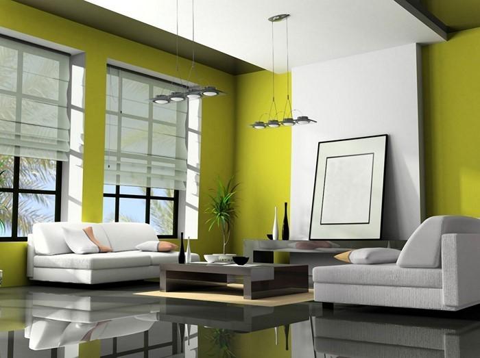 Wohnzimmer-gestalten-eine-gruen-und-weisse-Idylle