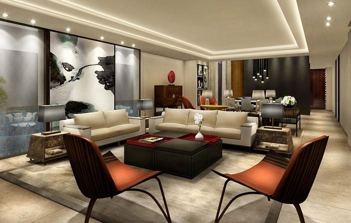 Wohnzimmer-gestalten-eine-wnderschoene-Ausstattung-in-rot-und-weiss