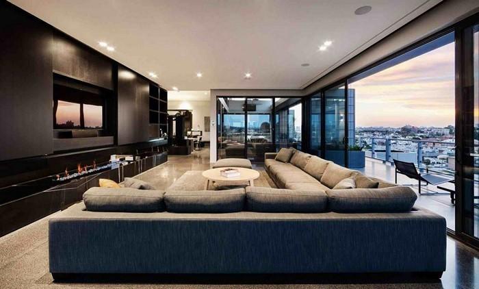 stunning designer wohnzimmer schwarz contemporary - amazing design