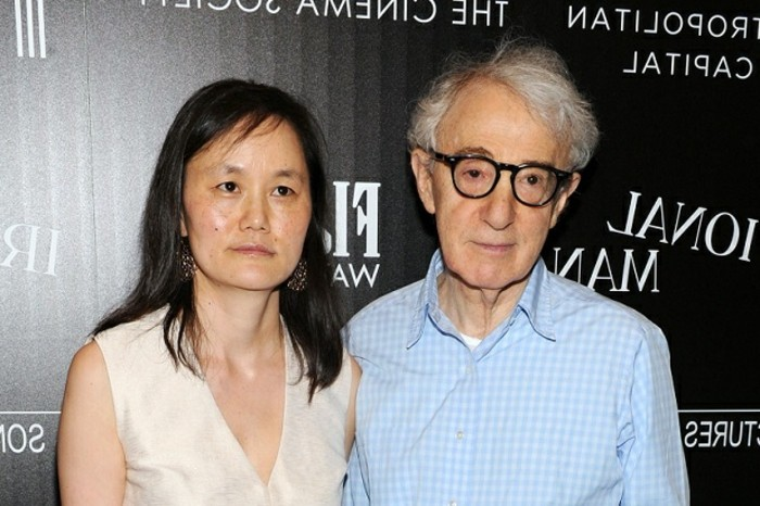 "NEW YORK, NY - JULY 15: Woody Allen and Soon-Yi Previn attend the screening of Sony Pictures Classics' ""Irrational Man"" hosted by The Cinema Society with FIJI Water & Metropolitan Capital Bank at Museum of Modern Art on July 15, 2015 in New York City. (Photo by Craig Barritt/Getty Images for FIJI Water)"