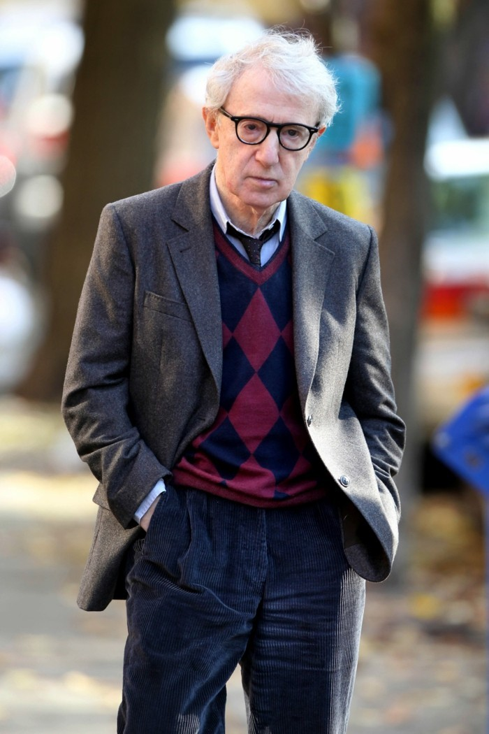 "NEW YORK, NY - NOVEMBER 12: Woody Allen Films ""Fading Gigolo"" Written & Directed by John Turturro on the Streets of Brooklyn on November 12, 2012 in New York City. (Photo by Aby Baker/Getty Images)"
