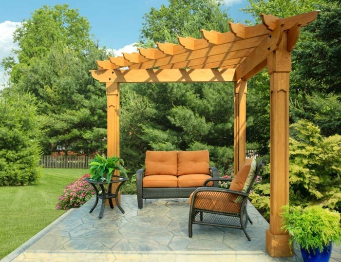 die herrliche pergola aus holz in 93 fotos. Black Bedroom Furniture Sets. Home Design Ideas