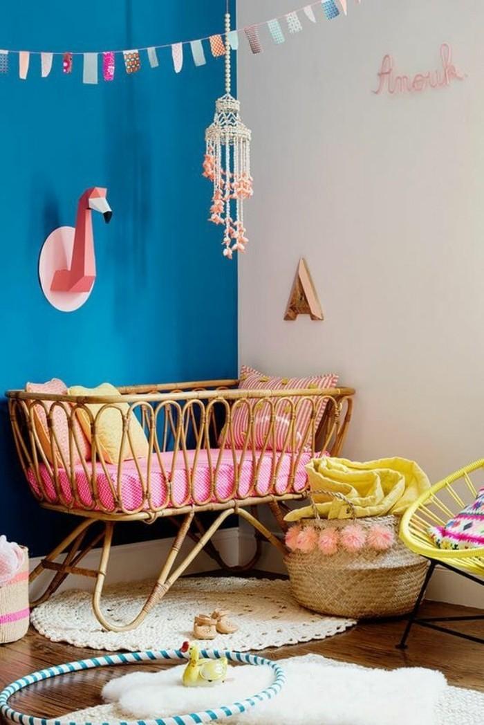 100 interieur ideen mit grellen wandfarben - Wandfarbe babyzimmer ...
