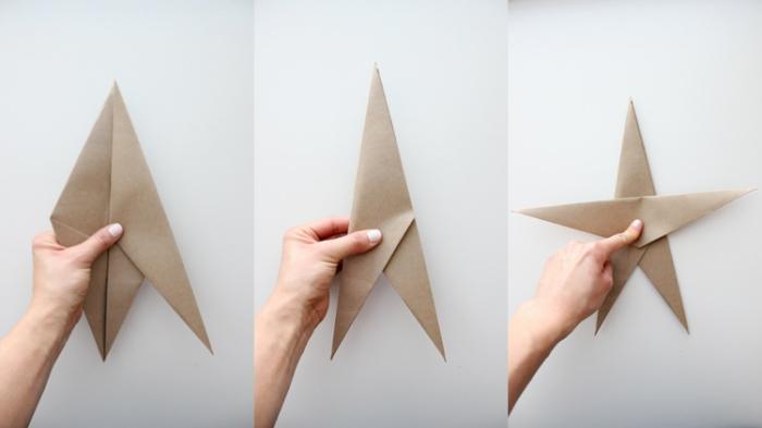 diy stern, schritt für schritt anleitung, basteln aus papier, papierstern falten, origami