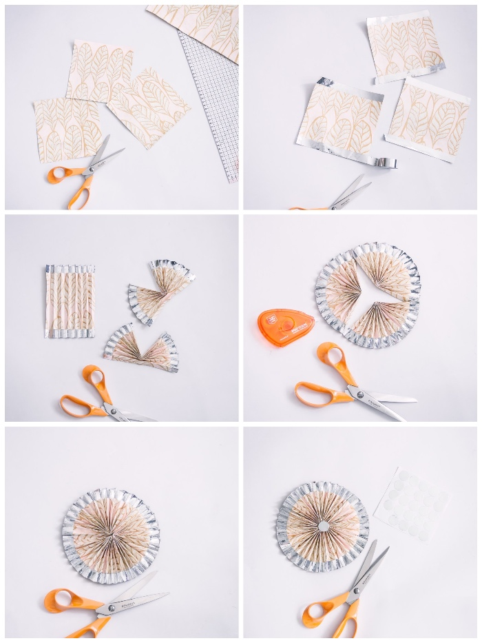 basteln mit papier, schritt für schritt anleitung, partydeko aus buntem dekopapier