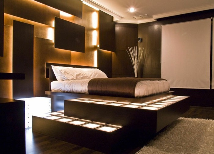 Wohnzimmer ideen wandgestaltung braun  43 super Ideen für braune Wandgestaltung - Archzine.net