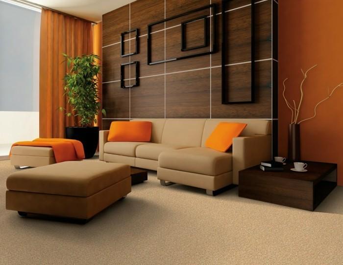 braun orange wohnzimmer ~ home design und möbel ideen - Wohnzimmer Orange Weis