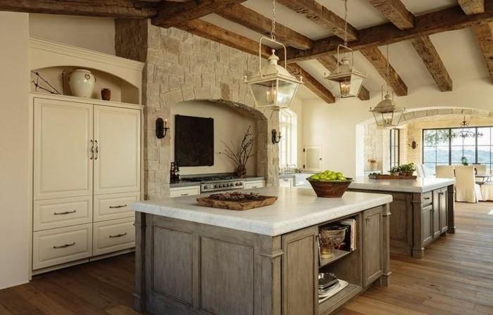 braune-wandgestaltung-braune-neuance-in-der-küche