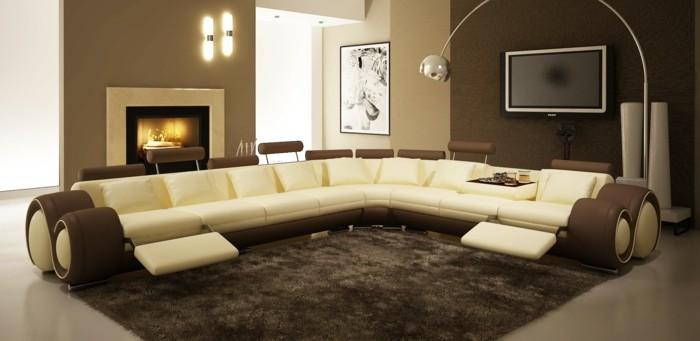 Wohnzimmer Ideen Braune Wand : braune-wandgestaltung-braune-neuancen ...