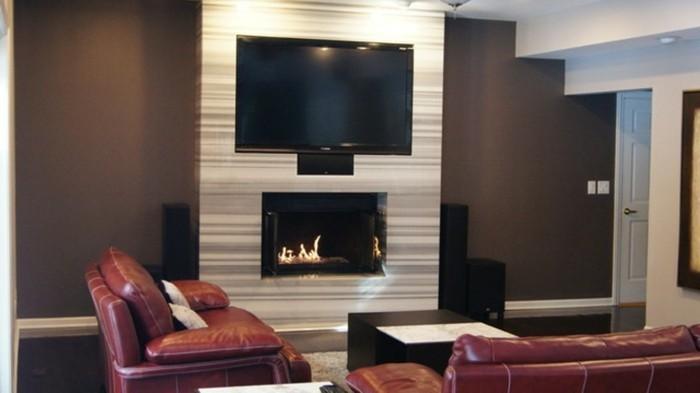 braune-wandgestaltung-brauntöne-in-einem-gemütlichen-wohmzimmer