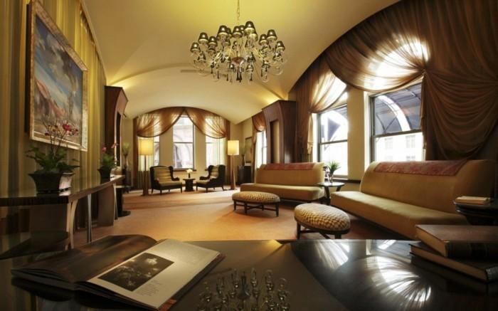 braune-wandgestaltung-ein-wohnzimmer-mit-braunen-nuancen