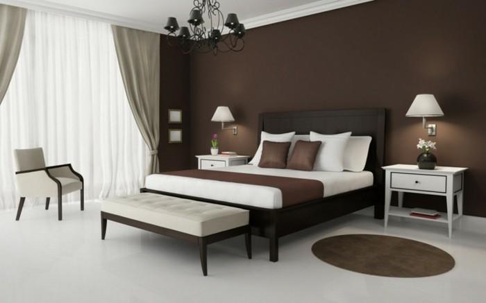 braune-wandgestaltung-gemütliches-wohnzimmmer-mit-brautönen