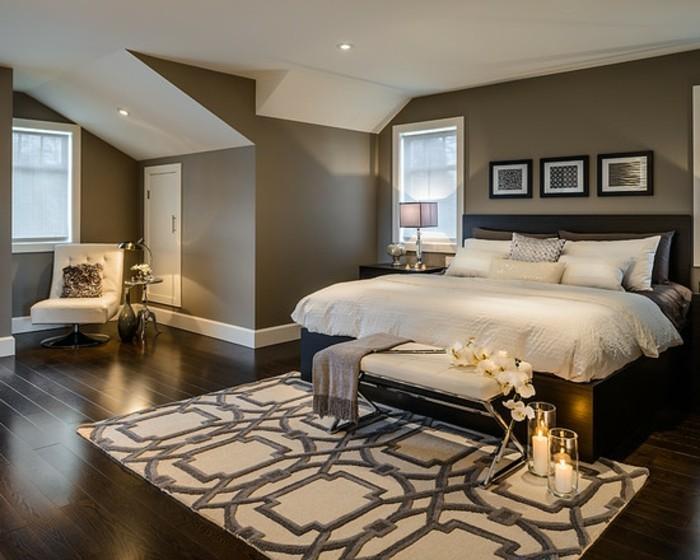 Braune Schlafzimmerwand Dekoration Inspiration Innenraum Und M Bel Ideen