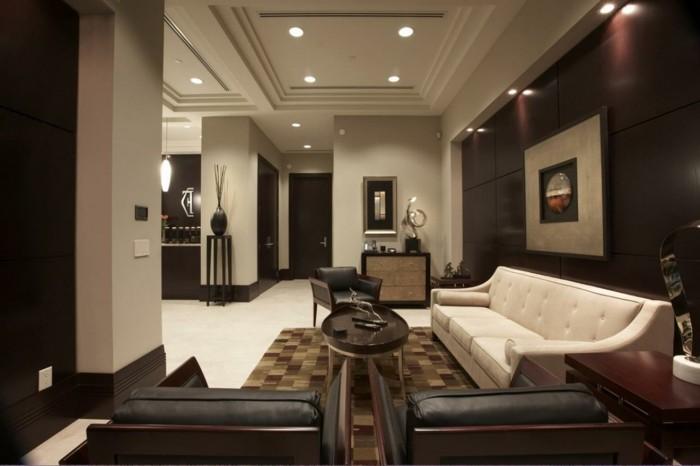 wohnzimmer ideen braune wand – Dumss.com