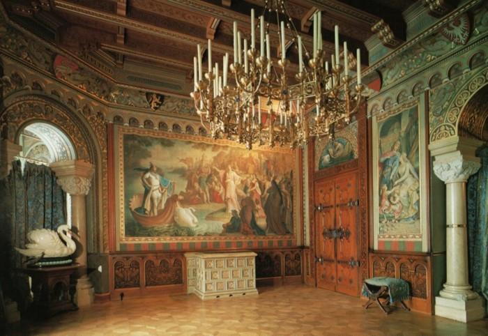 das-Schloss-Neuschwanstein-das-Wohnzimmer1