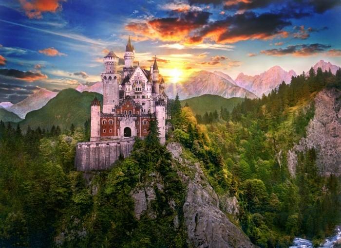 das-Schloss-Neuschwanstein-von-außen