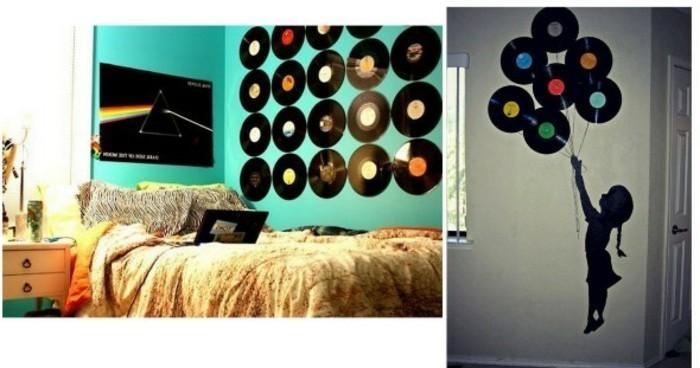 98 ausgefallene ideen f r deko aus schallplatten. Black Bedroom Furniture Sets. Home Design Ideas