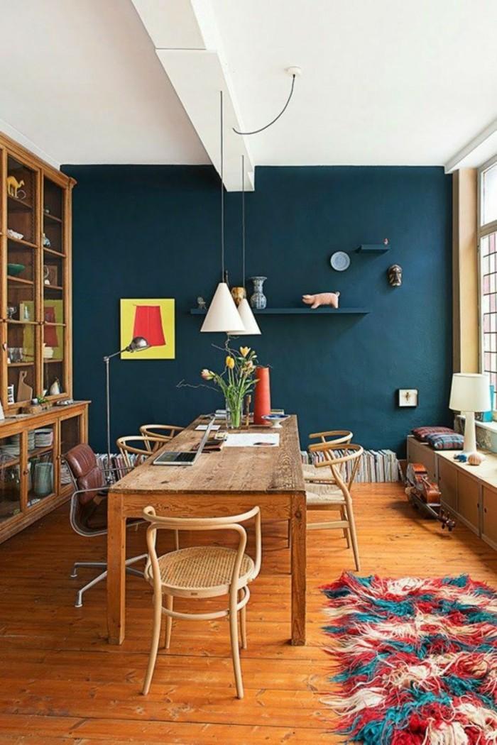 effektvolle-wandfarben-vorschläge-esszimmer-in-blau