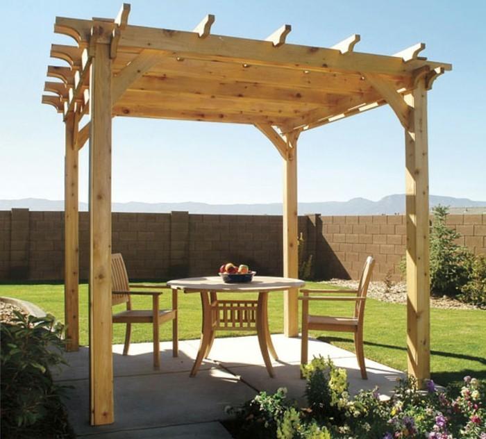 Effektvolles Modell Pergola Aus Holz Attraktive Außengestaltung