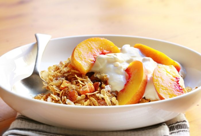 Fruit Yoghurt And Muesli