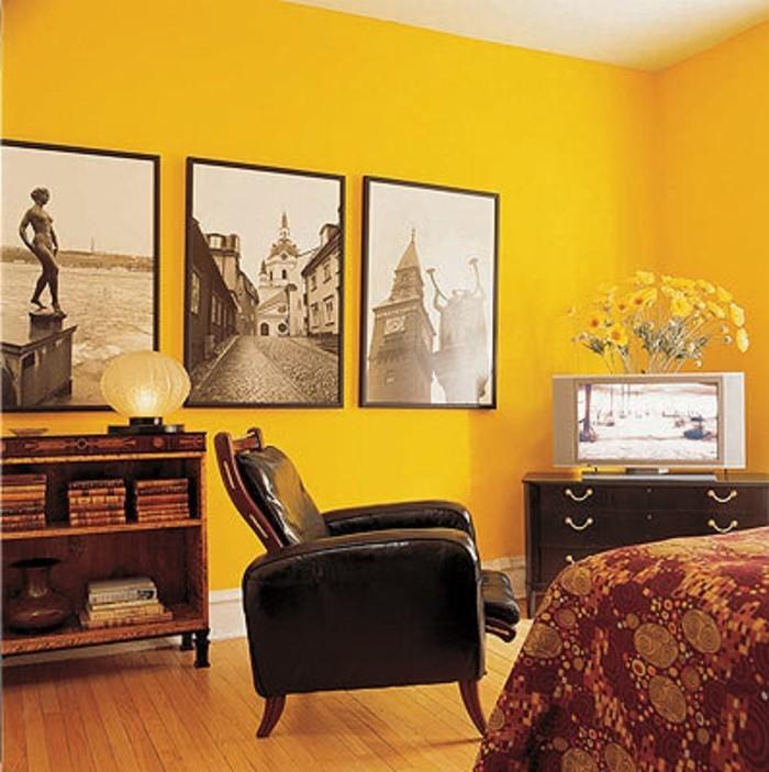 gelbe-wände-im-schlafzimmer-super-kreative-wandfarben-ideen