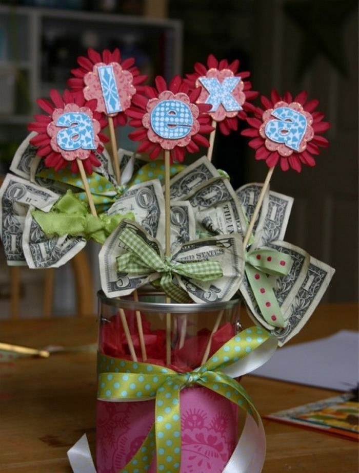 Money Origami Basket